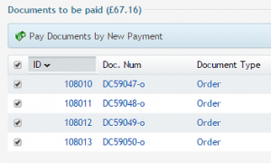 pay this document by new payment