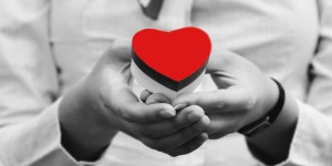 Red heart love domaincheck