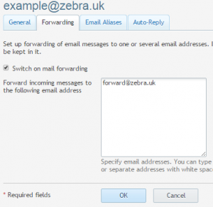 Setting up email forward