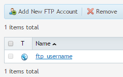 Adding a new FTP account