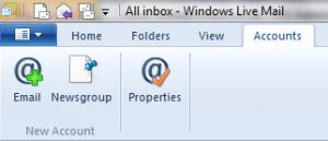 Setting up Windows Live Mail