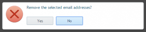remove email addresses