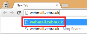 Webmail in Chrome